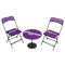 chaises pliantes + table